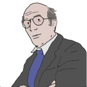 Niklas Luhmann als Comicfigur